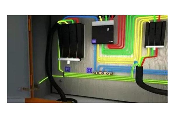 分配电箱门与箱体间必须采用编织软铜线可靠连接作保护接零.